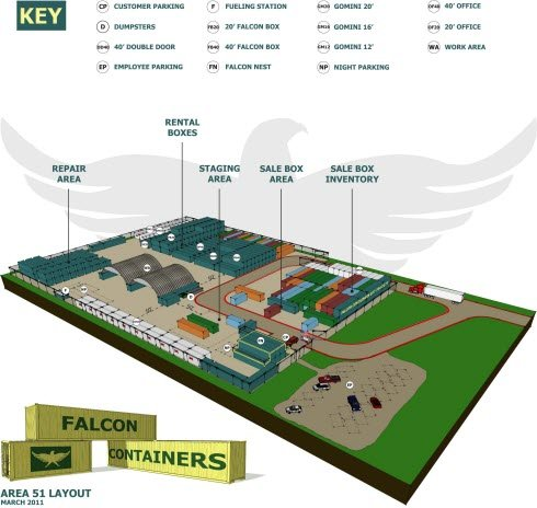 Partial Site Plan View of Area 51