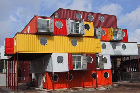 Shipping container based building