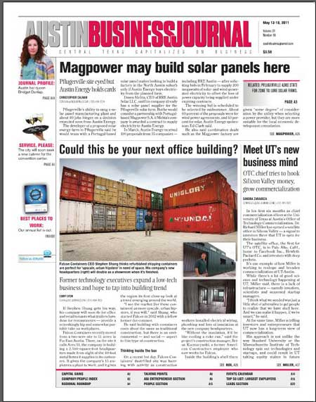 Falcon on front page of ABJ