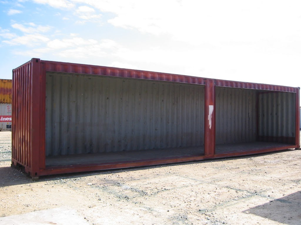 Custom container shed