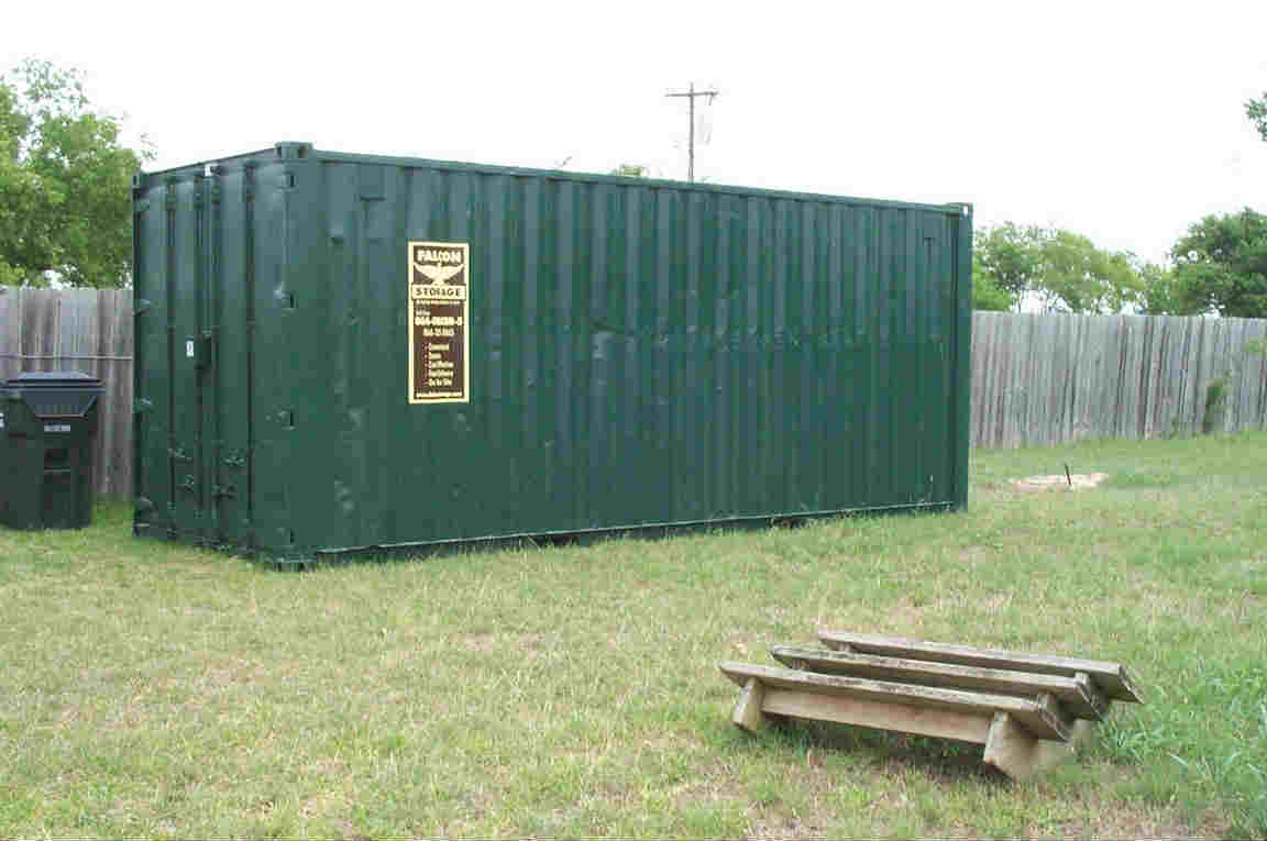 Modified shipping containers can securely store hunting and landscaping equipment.