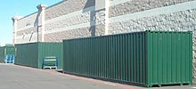 Shipping containers being used for portable storage