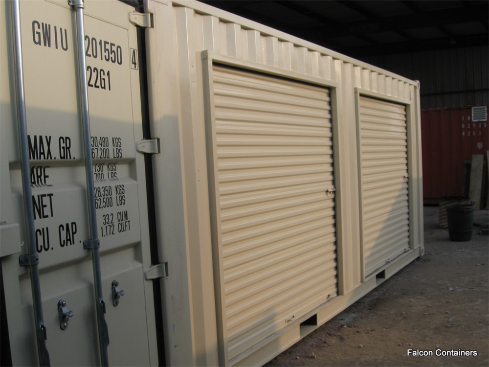 Shipping container roll up door