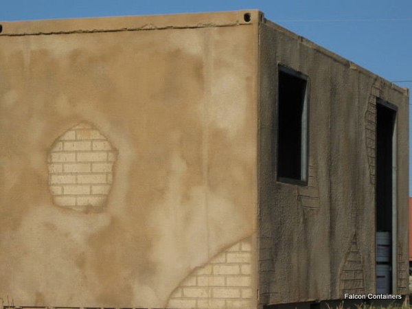 Plaster facade