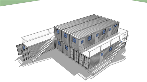 Falcon Container Office rendering