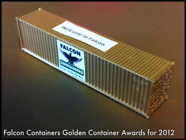 Falcon Containers golden container