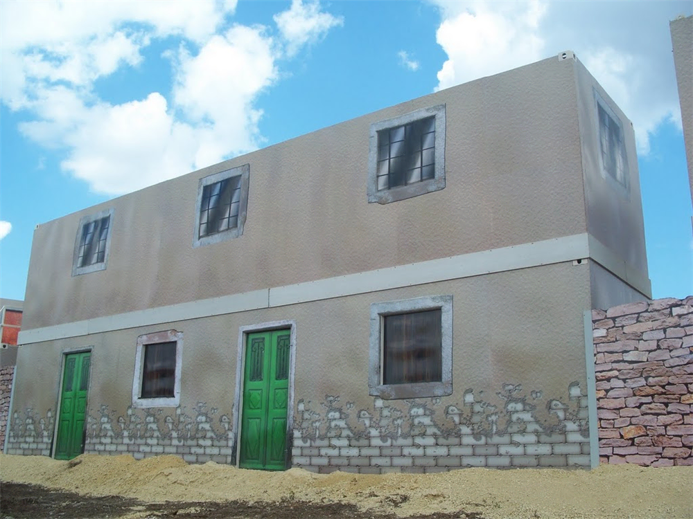 Creating a Military Training Facade with Military Shipping Containers