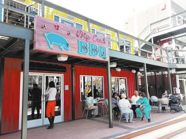 Retail and restaurant space in Las Vegas with shipping containers