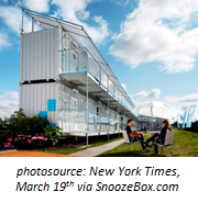 Modified shipping containers can be used to quickly construct hotels.