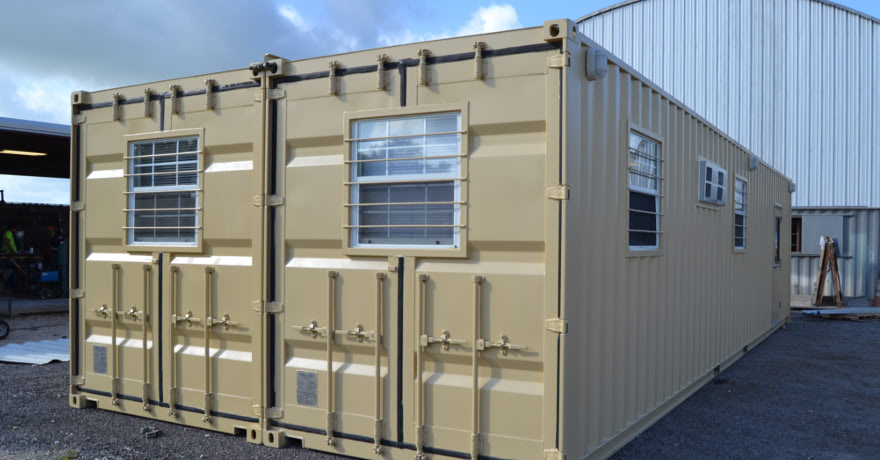 Learn about a portable double-wide container office