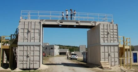 Click to learn more shipping container based MOUT training villages.