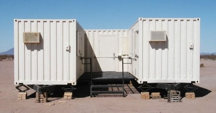 Click to learn how three 20-foot shipping containers became housing for border patrol.