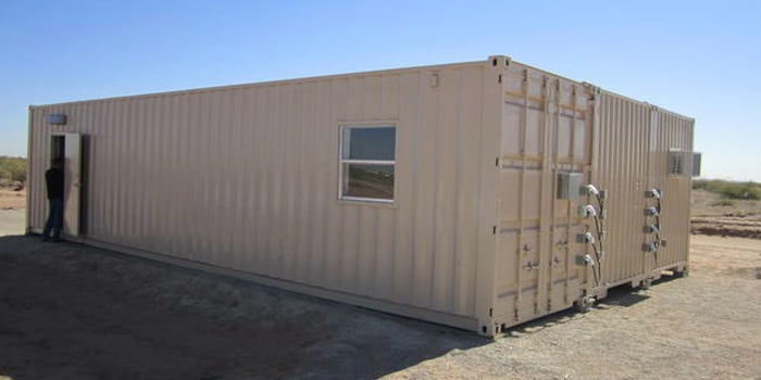 Triple-wide container-based structure for air force AARP