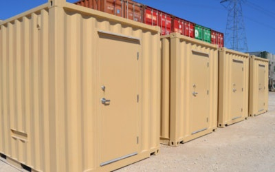 Remote terminal unit (RTU) enclosures made from modified shipping contianers.
