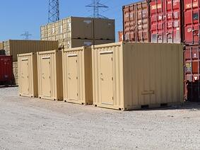 RTU equipment enclosures built in 10-foot conex containers