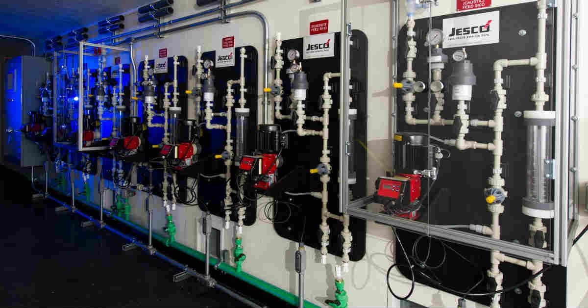 An OEM built a water treatment plant inside a conex equipment shelter.