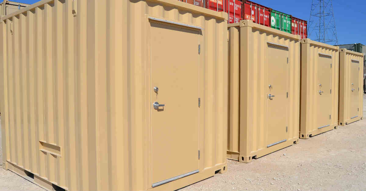 10-foot shipping containers modified into 10-foot long equipment enclosures for RTUs for an OEM customer.