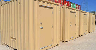 Shipping containers modified into 10-foot long equipment enclosures for RTUs for an OEM customer.