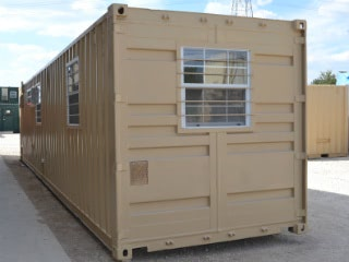 Modified Conex Container Hunting Cabin or Bunkhouse