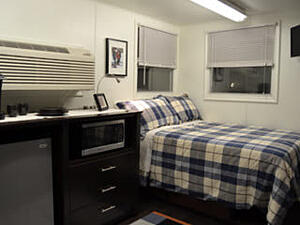 interior of container used as temporary workforce housing