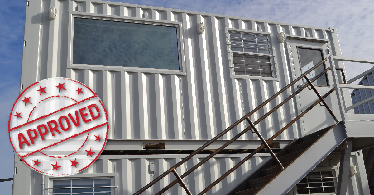 Two-story shipping container building poised to be approved in building code