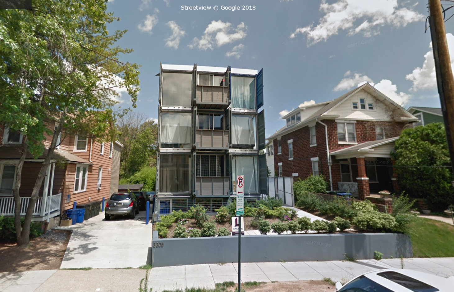 Sea Container Housing in DC, Washington, Google Streetview