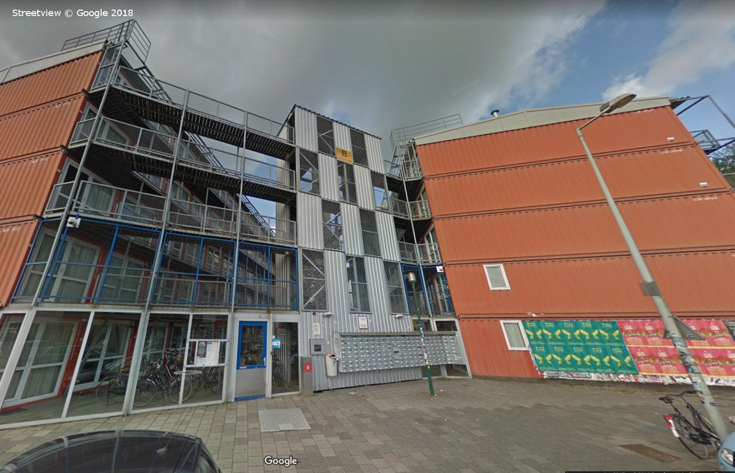 Keetwonen Student Apartments, Amsterdam, Google Streetview