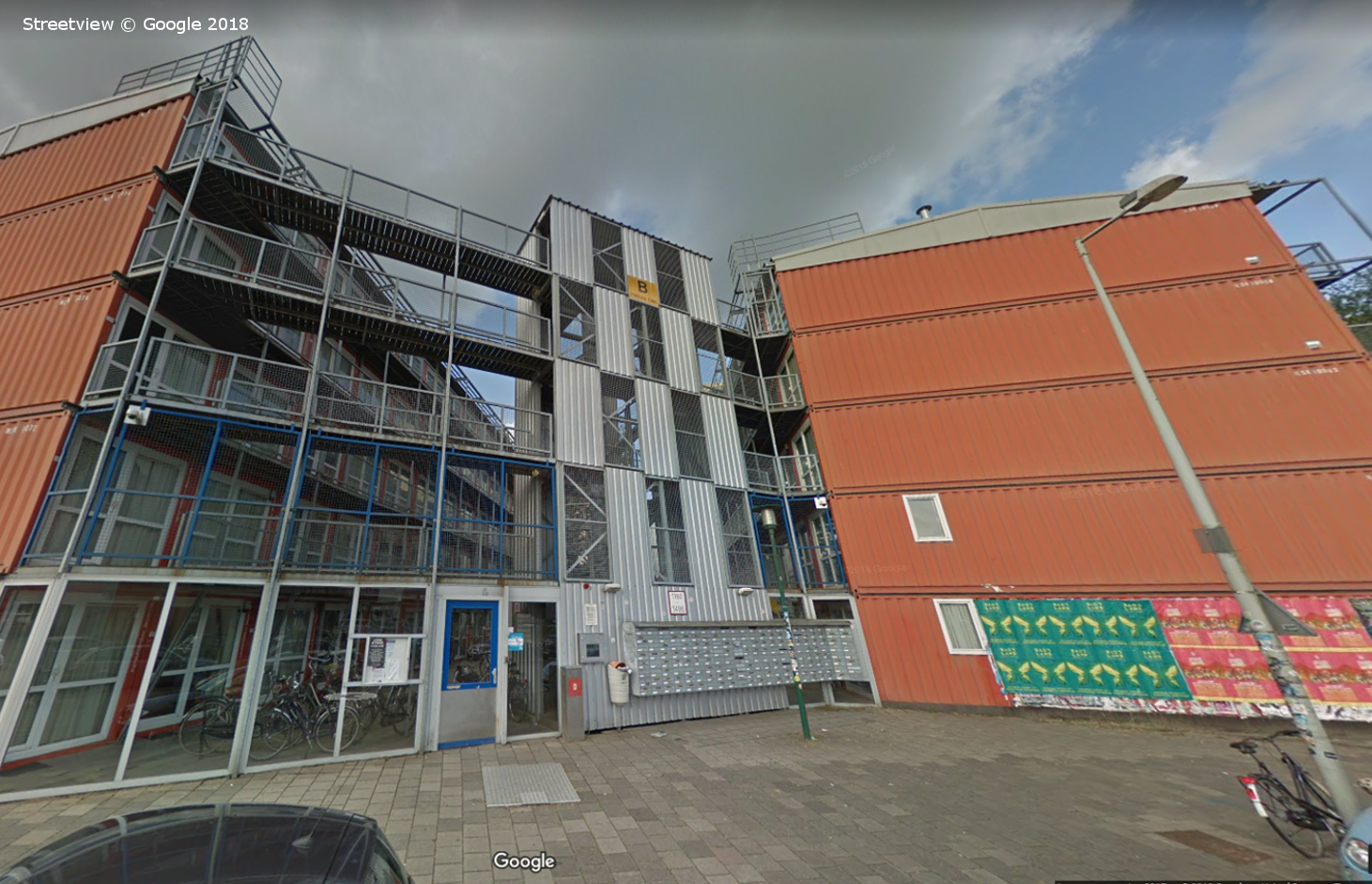 Keetwonen Student Apartments, Amsterdam, Google Streetview