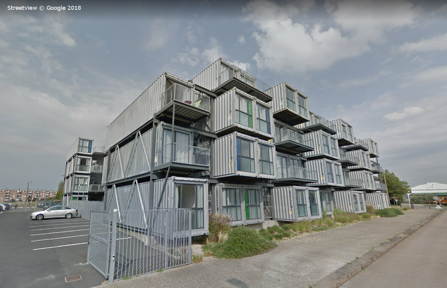 Cite a Docks student apartments, Le Havre France, Google Streetview