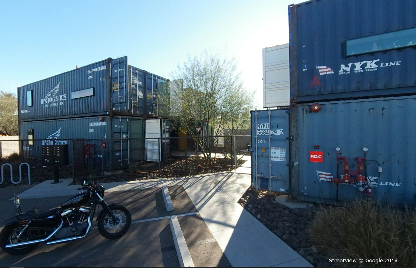Containers on Grand Apartment Complex, Phoenix AZ, Google Streetview