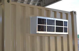 HVAC maintenance is critical for modified shipping containers.