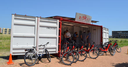 Click to learn more about Rocket Electrics' container-based auxiliary store front.