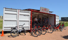 Rocket Electrics Container-Based E-Bike Rentals.
