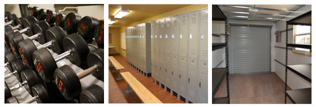 Modified shipping containers are an excellent storage option for sports equipment and other needs.