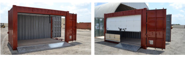 Special options make modified shipping containers ideal ofr warehouses and marinas.