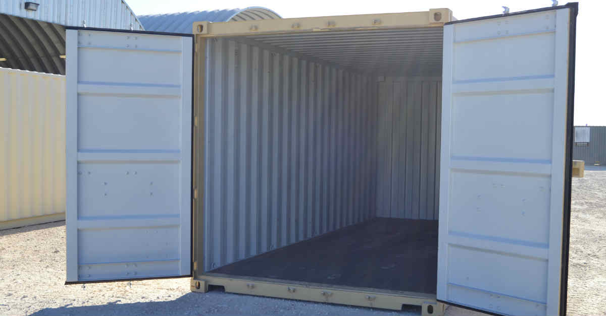 20ft Straight Box with Open Cargo Doors