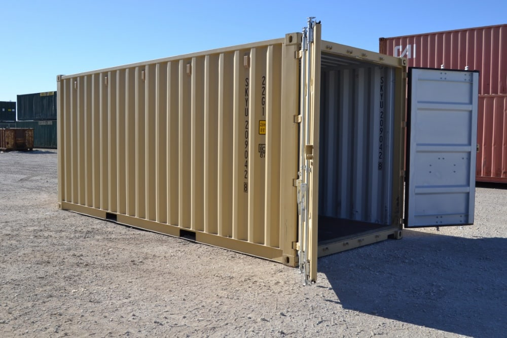 Modified shipping containers provide secure storage for businesses and organizations.