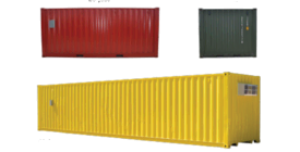 Get common shipping container specs and dimensions.