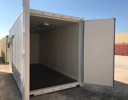 This onsite records storage unit has insulation and lighting.
