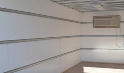 A climate controlled storage container with styrofoam insulation
