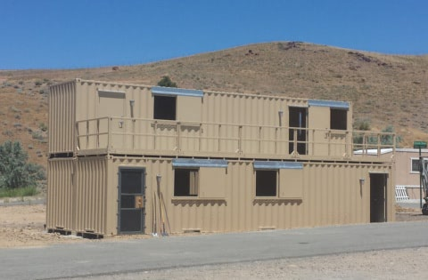 First phase of the Reno shipping container training facility