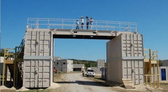 Bridge built for U.S. military in first responder training facility.