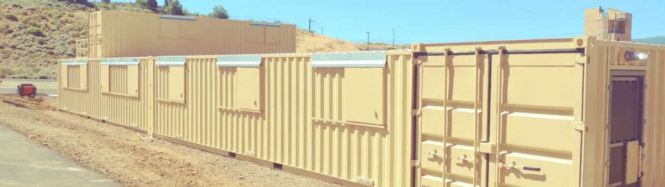 Falcon created a custom first responder training facility from modified shipping containers.