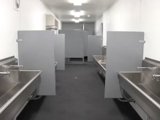 Falcon Mobile Shipping Container Field Restroom