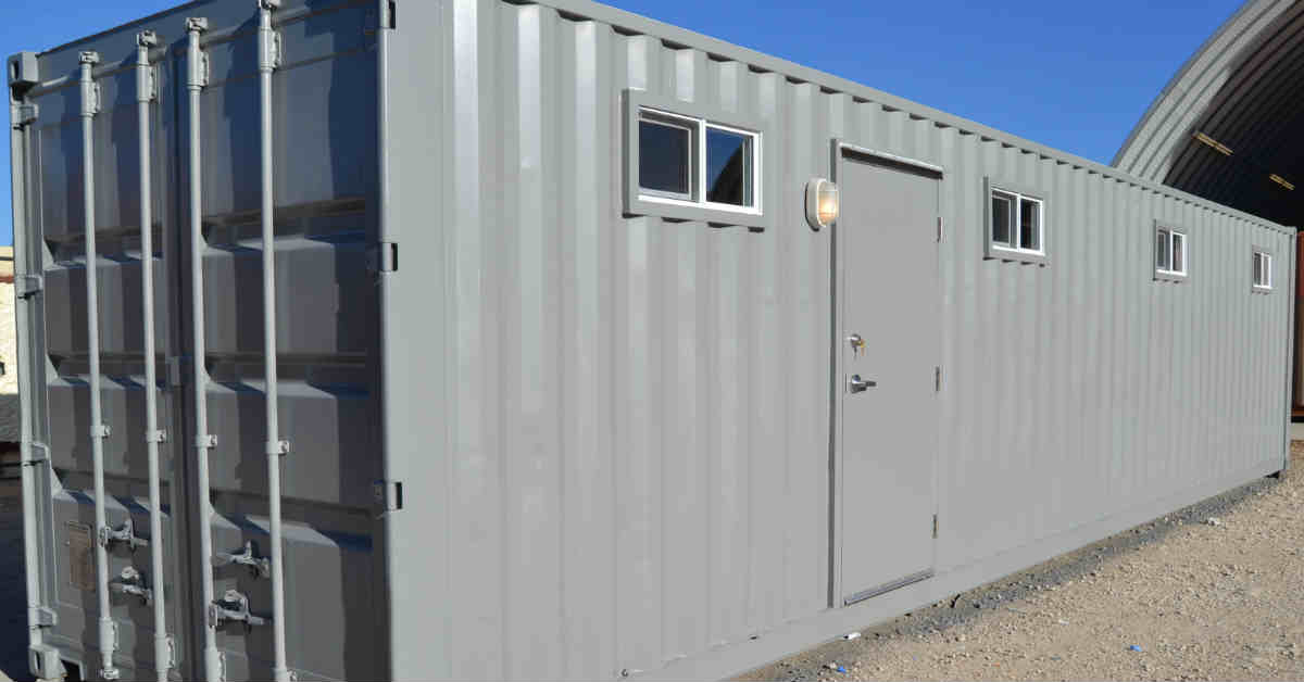 Mobile container office and storage.
