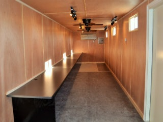 Modified ISO container make excellent workshops and studios.