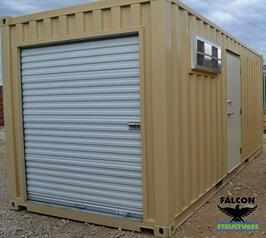 20ft Climate Controlled Storage With Rollup Door and Shelving