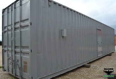 Exterior of container-based temporary oilfield housing