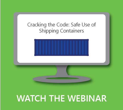 Click to watch our webinar about shipping container and building code.