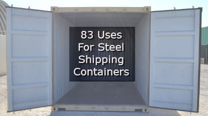 Open Container Doors - 83 Uses For Steel Shipping Containers